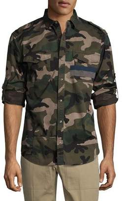 Valentino Camo Twill Military Shirt, Green $1,295 thestylecure.com