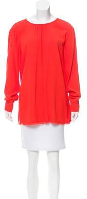 Raquel Allegra Crepe Long Sleeve Top w/ Tags