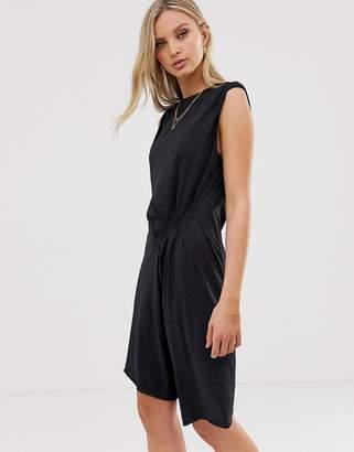 AllSaints duma jersey asymmetric mini dress