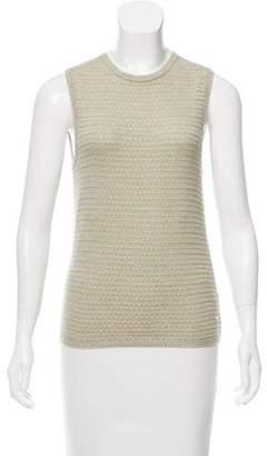 Oscar de la Renta Sleeveless Silk-Cashmere Sweater