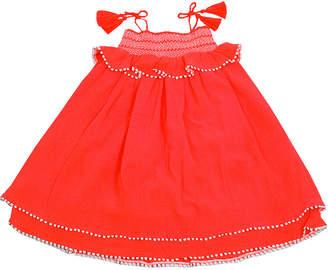 Co SOPHIE CATALOU Sophie Catalou Girls' Smocked Crinkle Shift Dress