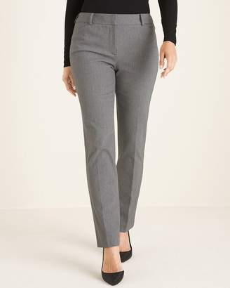 So Slimming Sophia Twill Striped Straight-Leg Pants