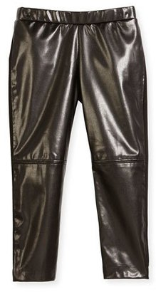 Milly Vegan Leather Leggings, Black, Size 4-7 $125 thestylecure.com