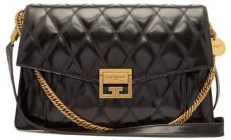 Givenchy Gv3 Medium Diamond Quilted Leather Bag - Womens - Black