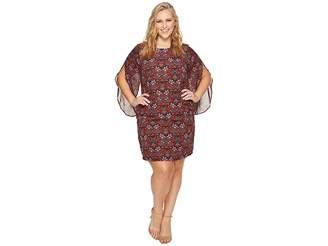 Sangria Plus Size Split Sleeve Dress Women's Dress