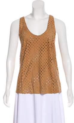 Drome Perforated Suede Top