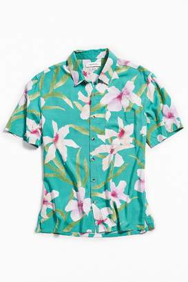 Urban Outfitters Floral Hawaiian Short Sleeve Button-Down Shirt