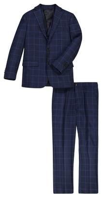 Isaac Mizrahi Plaid 3-Piece Suit (Toddler, Little Boys, & Big Boys)