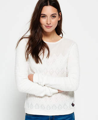 Superdry Embroidered Boho Crew Neck Jumper