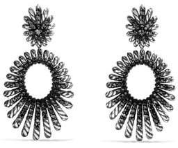 David Yurman Tempo Double-Drop Black Spinel Earrings