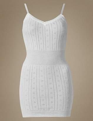 Marks and Spencer Secret SlimmingTM Pure Cotton Ribbed Pointelle Vest
