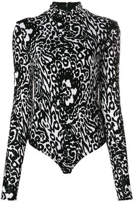 Versace animal print bodysuit