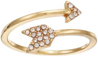 Lauren Conrad Simulated Crystal Arrow Bypass Ring