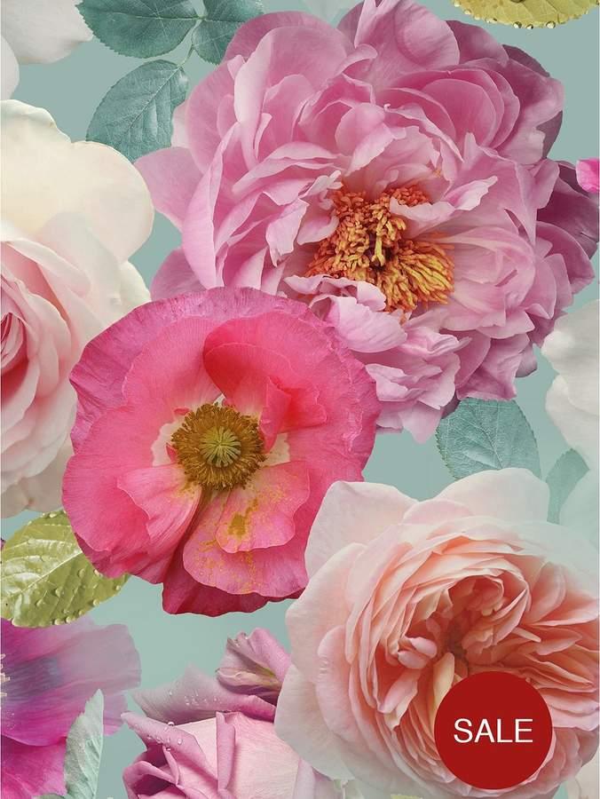 ARTHOUSE Country Garden Teal Wallpaper