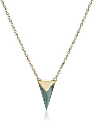 Alexis Bittar Faceted Pyramid Pendant Necklace, 18""