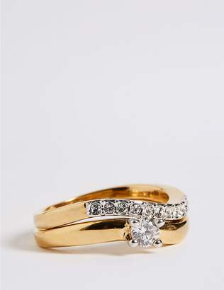 Marks and Spencer Gold Plated Wedding Band Duo Rings