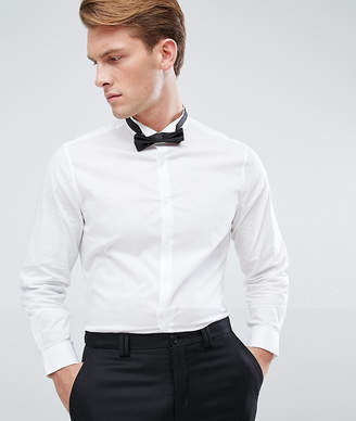 Asos Slim Shirt With Wing Collar And Bow Tie Set Save