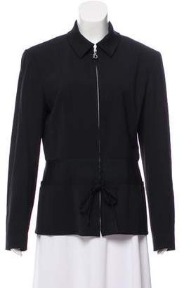 Christian Dior Mock Neck Zip-Up Jacket