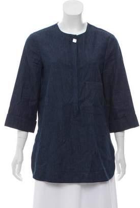 Trademark Denim Three-Quarter Sleeve Tunic