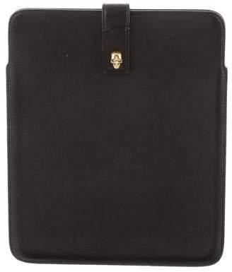 Alexander McQueen Skull-Embellished Leather iPad Case