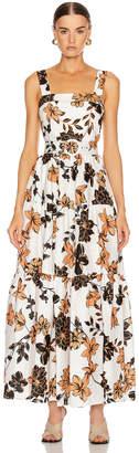 Nicholas Tiered Maxi Dress in Sepia Multi | FWRD