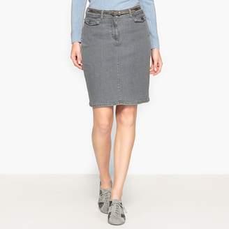 Anne Weyburn Stretch Denim Skirt