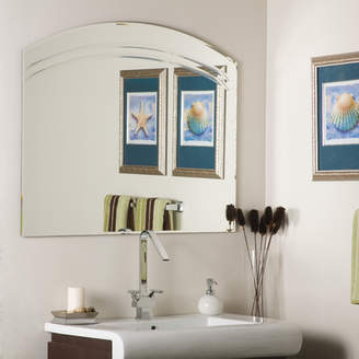 Rosecliff Heights Wallingford Large Frameless Wall Mirror