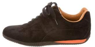 Hermes Suede Low-Top Sneakers