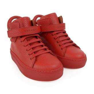 Buscemi BuscemiRed Leather 100MM High Top Trainers