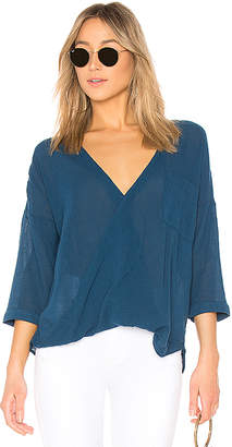 Bobi Gauze Surplice Top