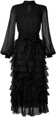 Giambattista Valli tiered ruffle maxi dress