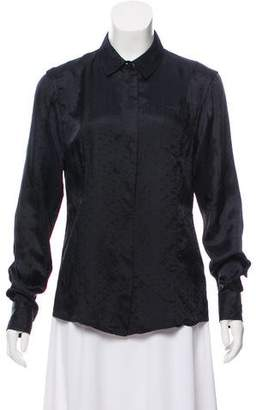Marc Jacobs Long Sleeve Button-Up Blouse