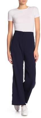 June & Hudson Side Stripe Wide Leg Pants