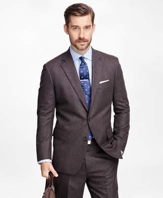 Brooks Brothers Own Make Alternating Stripe Suit