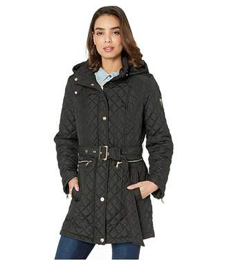 7c6cacb1441b Vince Camuto Quilted Belted Trench V19703