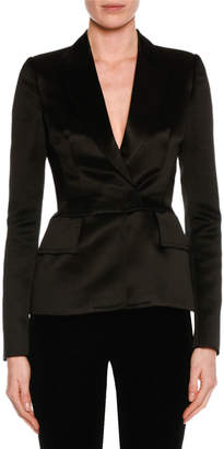 Tom Ford Fitted Silk Tuxedo Jacket