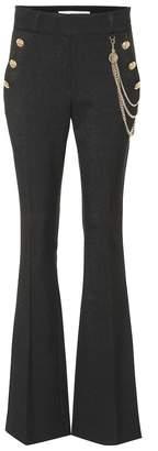 Veronica Beard Alair high-rise flared crepe pants