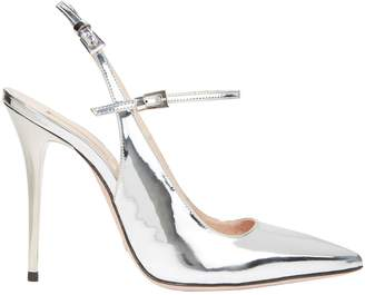 Sebastian Silver Leather Slingback Sandals