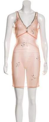 Miguelina Embellished Mini Dress