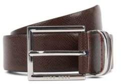 BOSS Signature Collection belt in embossed calf leather