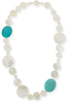 Viktoria Hayman Mother-of-Pearl & Turquoise Necklace