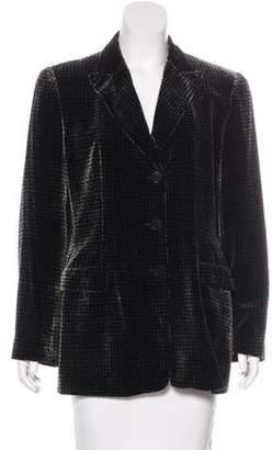 Giorgio Armani Velvet Patterned Blazer