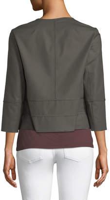 Lafayette 148 New York Aisha 3/4-Sleeve Poplin Jacket