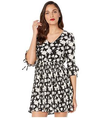 Unique Vintage Smak Parlour for Floral Print Lead Like A Girl Fit and Flare Dress