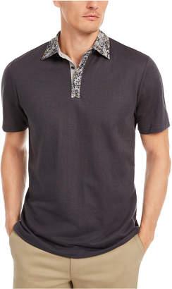 Tasso Elba Men Contrast-Collar Polo Shirt