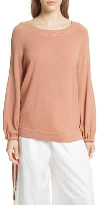 Vince Scrunch Sleeve Cashmere Sweater