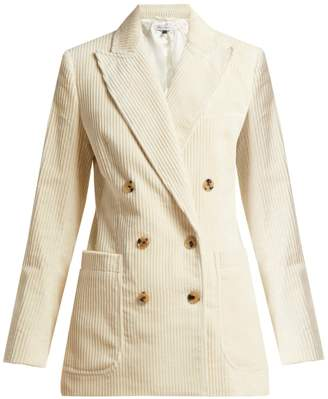 Bella Freud Bianca double-breasted cotton-corduroy jacket