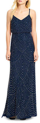 Adrianna Papell Art Deco Embellished Blouson Gown