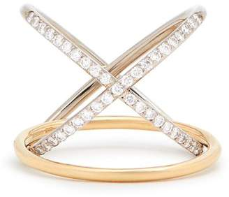 Charlotte Chesnais Fine Jewellery - Xo Diamond & Gold Ring - Womens - Gold