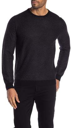 Toscano Patterned Crew Neck Knit Sweater